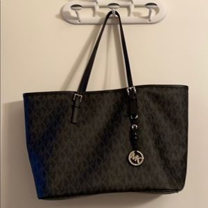 Michael Kors black on black bag